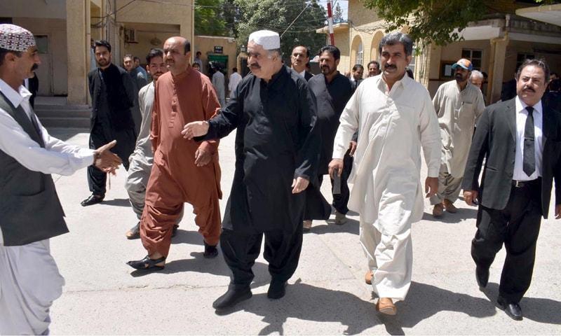 سابق وزیراعلیٰ بلوچستان نے ان پر قتل سے متعلق لگائے گئے الزامات کی تردید کردی — فوٹو: آئی این پی