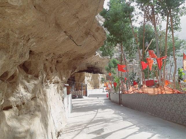THE mountain cave where Hinglaj Mata Temple is located. — Dawn