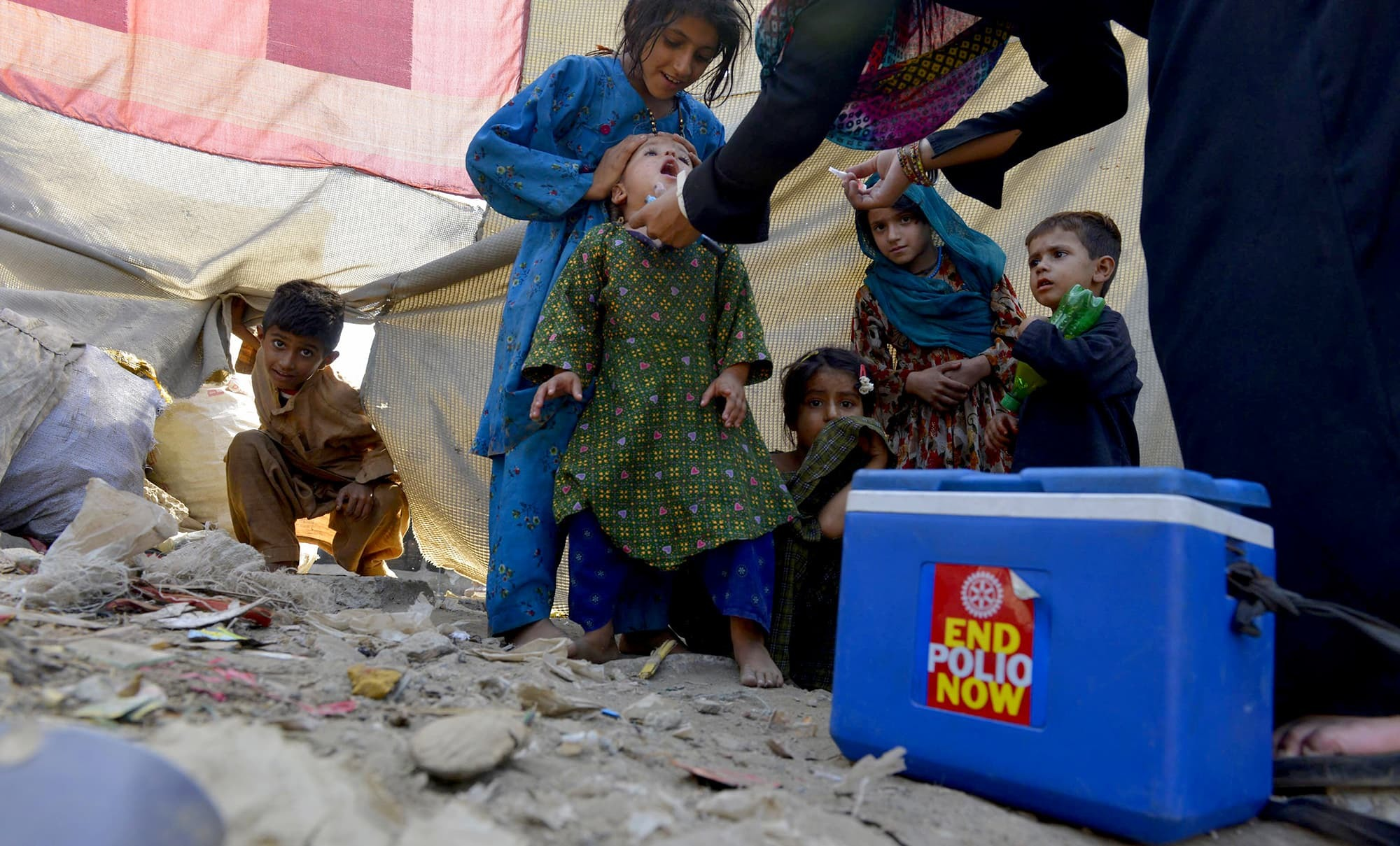 Five new cases of polio have brought the total number up to 58 this year. — AFP/File