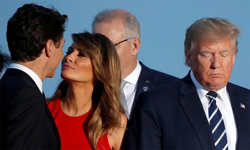 میلانیا ٹرمپ اور کینیڈین وزیراعظم کی وائرل تصویر