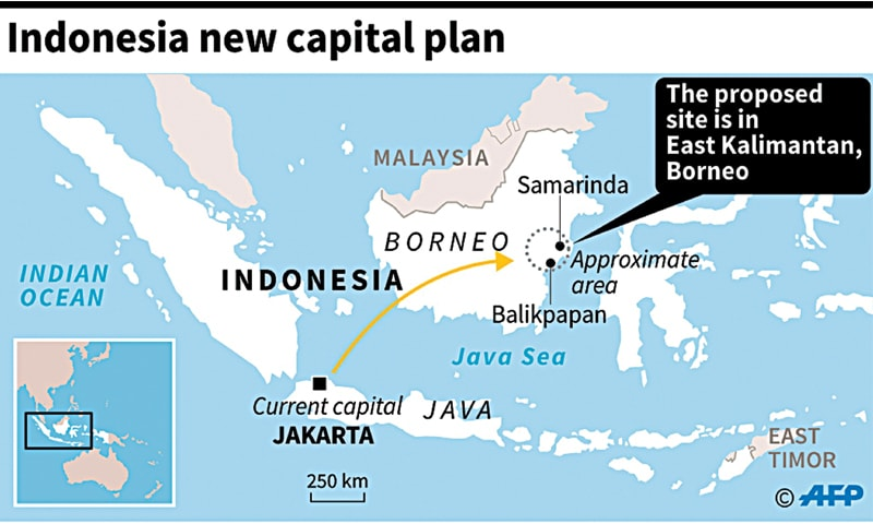 Indonesia to move its capital to Borneo island