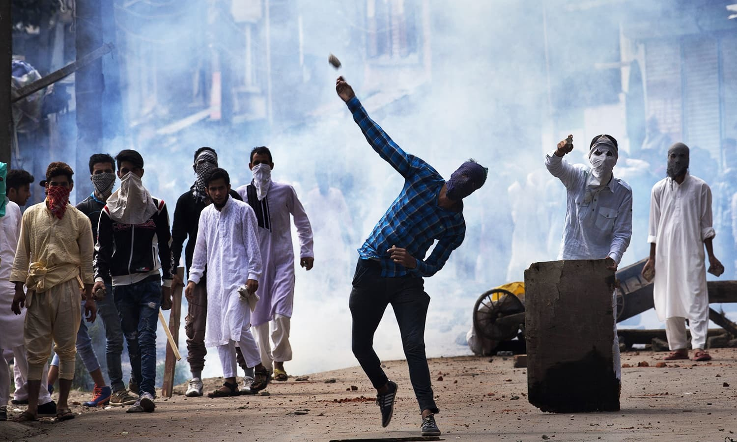 Stone-throwing protesters in India-held Kashmir mistakenly killed a driver of what they thought was a military truck. 1 AP/File