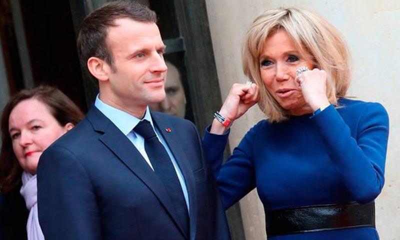 فرانسیسی صدر کی اہلیہ ان کی استانی بھی رہ چکی ہیں—فائل فوٹو: اے ایف پی