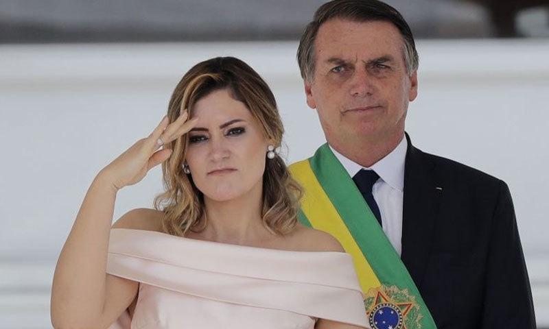 دلچسپ بات یہ ہے برازیلی صدر کی اہلیہ ان سے 27 سال کم عمر ہیں—فوٹو: اے پی