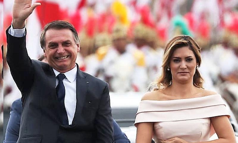 برازیلی صدر نے کم عمر اہلیہ سے تیسری شادی 2013 میں کی—فوٹو: اے پی
