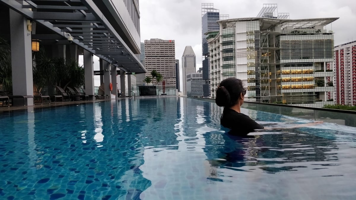 Munawar pictured in Singapore