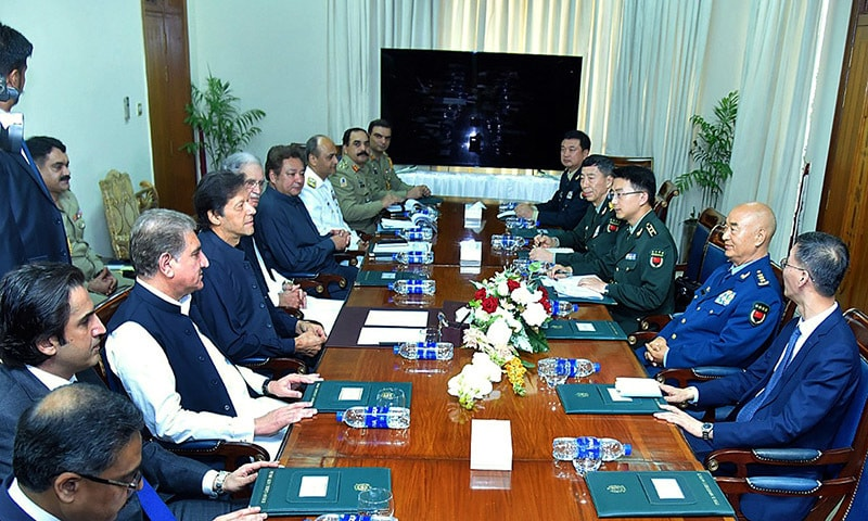Prime Minister Imran Khan and a visiting Chinese commander on Tuesday reaffirmed the commitment of their countries to collaborate for peace and stability in the region. — APP