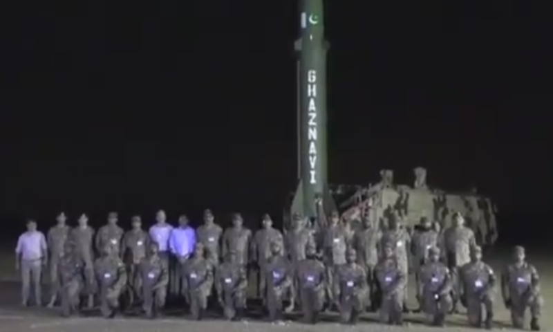 Pakistan successfully tests night launch of surface to surface ballistic missile Ghaznavi: ISPR