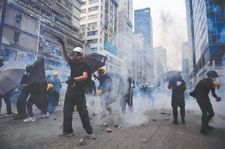 The sweep comes after a major rally planned for Saturday was banned by police. — AFP/File
