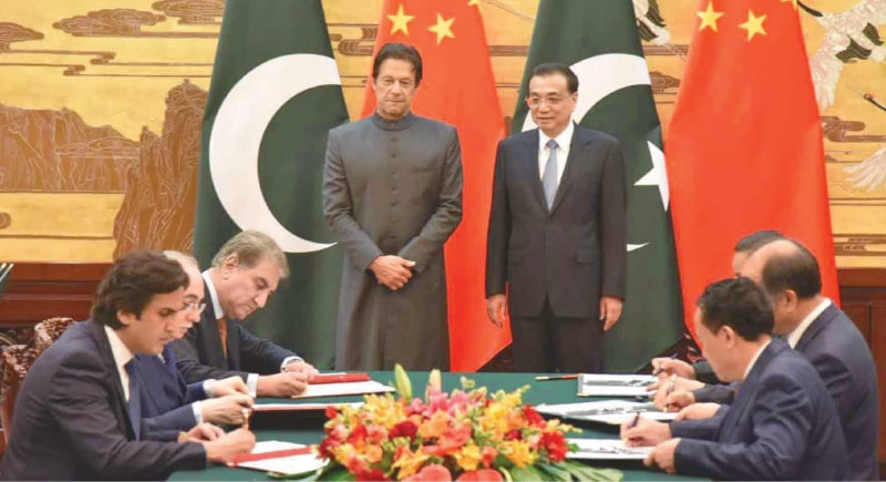 PM Imran Khan and Chinese Premier Li Keqiang on the PM's visit to China last year - cpec.gov.pk