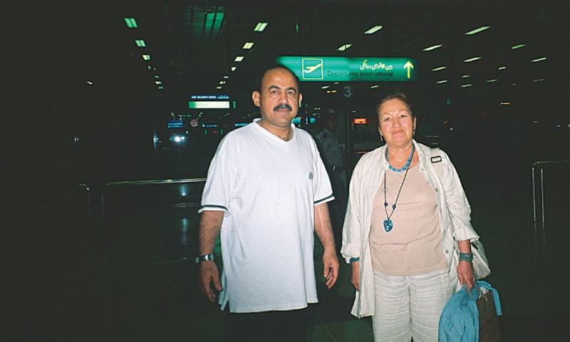 Semsa during her Karachi visit in 2006