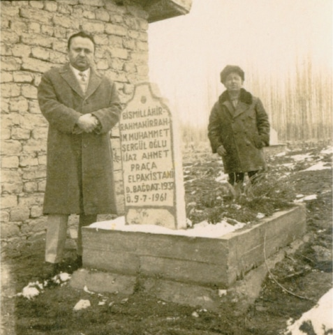 An old photo of the elusive grave of Uncle Ijaz in Eregli, Turkey