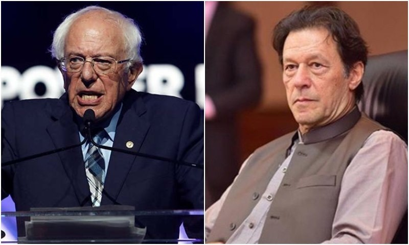 Prime Minister Imran Khan and US Senator Bernie Sanders on Sunday raised the plight of Kashmiris, who have been living under a lockdown for four weeks in occupied Kashmir, in their separate address at the 56th Convention of ISNA. — File photos