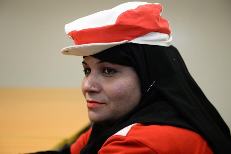 Zahra Bibi at work. Photo courtesy: Murtaza Ali