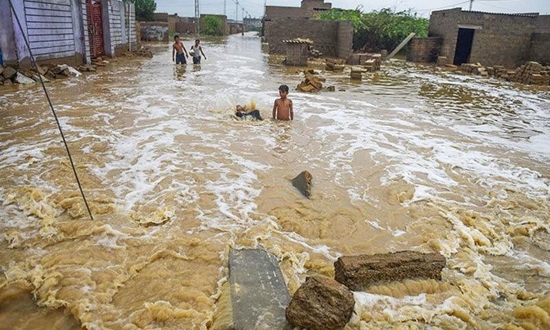 کراچی میں مون سون بارشوں کا سلسلہ جولائی میں شروع ہوا تھا—فائل/فوٹو:اے ایف پی