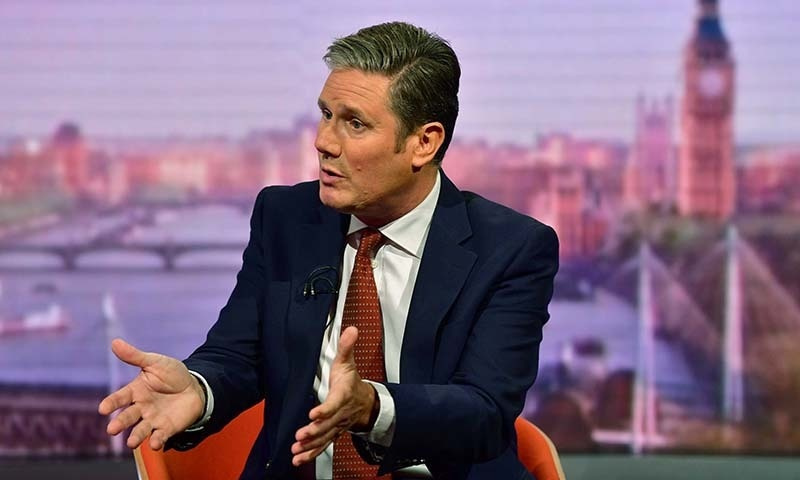 Labour Party's Shadow Secretary of State for Brexit Keir Starmer appears on BBC TV's The Andrew Marr Show in London, Britain on September 1. — Jeff Overs/BBC/Handout via Reuters