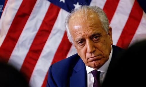 Zalmay Khalilzad — a former US ambassador to Afghanistan and Iraq — arrived in the Afghan capital on Sunday evening following a ninth round of talks with the Taliban in the Qatari capital. — Reuters/File