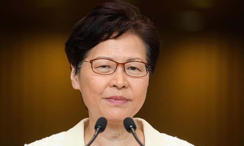 Hong Kong leader insists she will stay on after 3 months of unrest