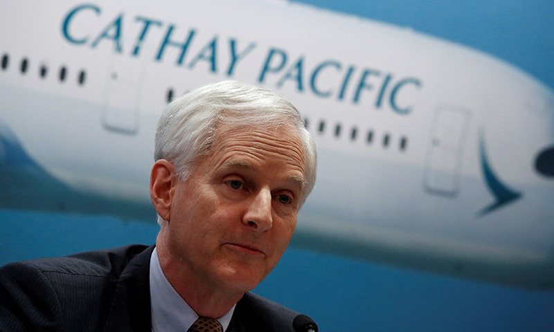 Cathay Pacific Group Chairman John Slosar attends a news conference on the carrier's annual results in Hong Kong, China on March 14, 2018. — Reuters/File