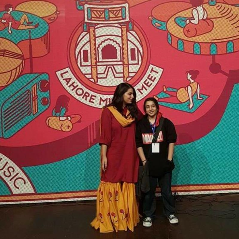 Natasha and Zahra at Lahore Music Meet 2017