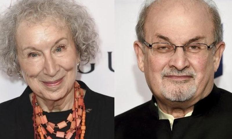 سلمان رشدی اور مارگریٹ ایٹ وڈ سمیت 6 لکھاریوں کو نامزد کیا گیا تھا—فوٹو: رائٹرز
