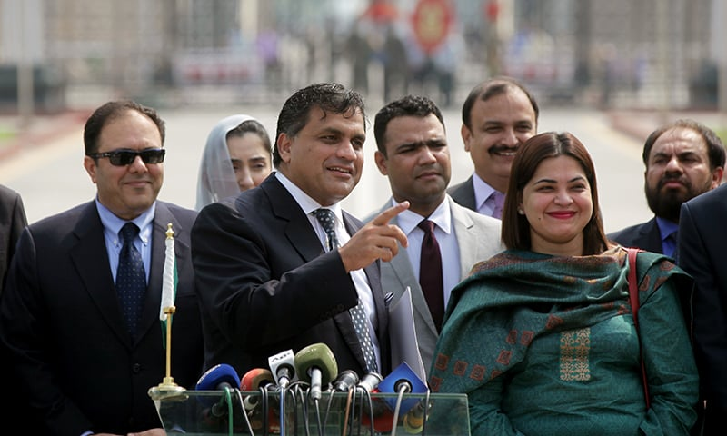 Foreign Office spokesman Mohammad Faisal gestures as he addresses the media before the third round of Pakistan-India talks on Kartarpur border corridor, at Wagah border near Lahore on Wednesday. — Reuters