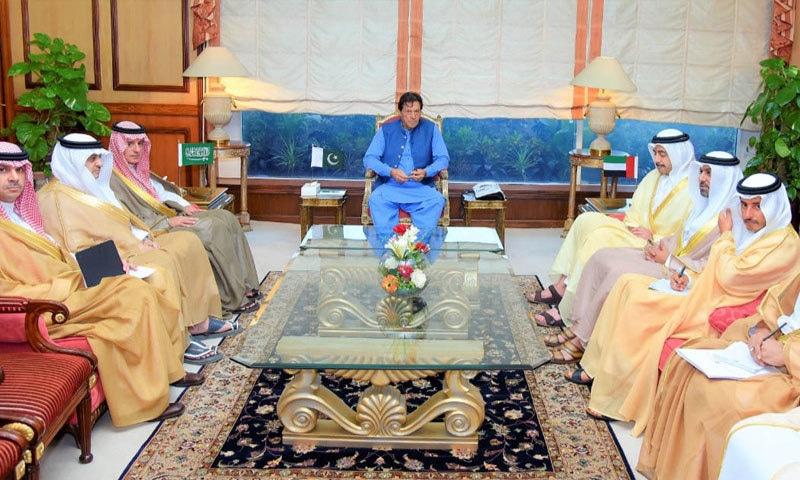 ملاقات میں مقبوضہ کشمیر میں بھارت کے غیر قانونی اقدامات پر تبادلہ خیال کیا گیا — فوٹو: پی آئی ڈی