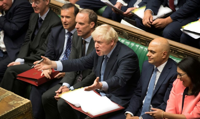 UK Johnson's Brexit plans in tatters after stinging defeats