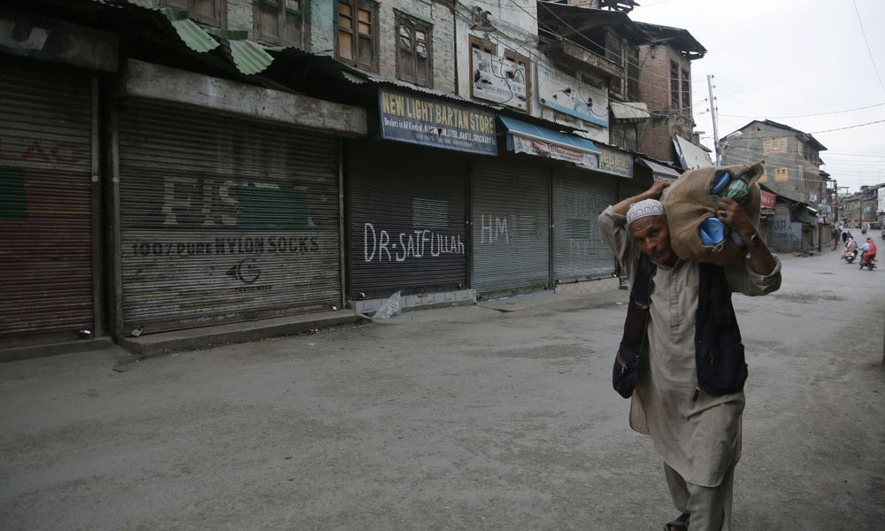 India's government, led by the Hindu nationalist Bharatiya Janata Party imposed a security lockdown and communications blackout in occupied Kashmir to avoid a violent reaction to the August 5 decision to downgrade the region's autonomy. — AP/File