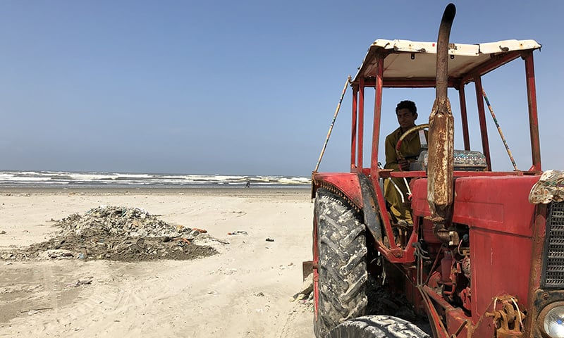 Is Karachi equipped to deal with bio-hazardous trash on its beaches?