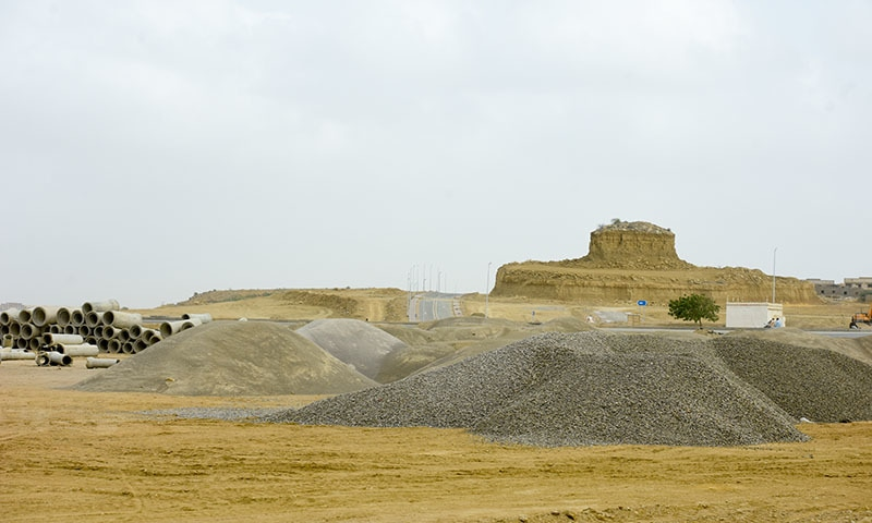 The natural landscape is being reshaped by Bahria to suit the BTK layout. — White Star