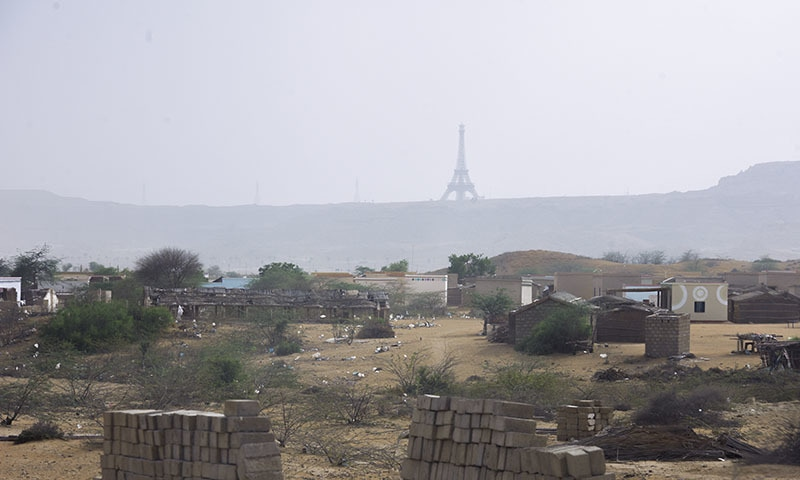 Bahria's replica Eiffel Tower looms over the landscape. – White Star
