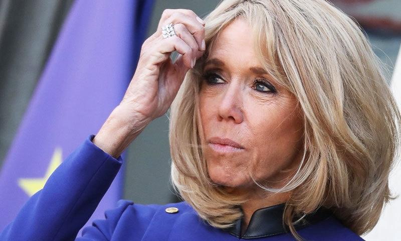بریغت تروغنوث اپنے شوہر فرانسیسی صدر سے 24 سال بڑی ہیں—فائل فوٹو: اے ایف پی