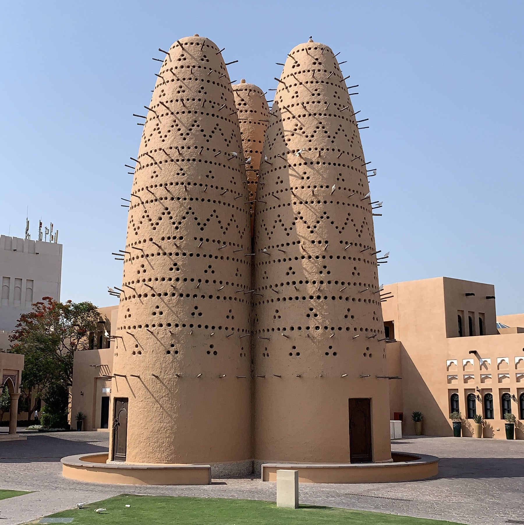 Pigeon Towers, designed to collect pigeon droppings that were used as a fertiliser for farming, at the Katara Cultural Village.