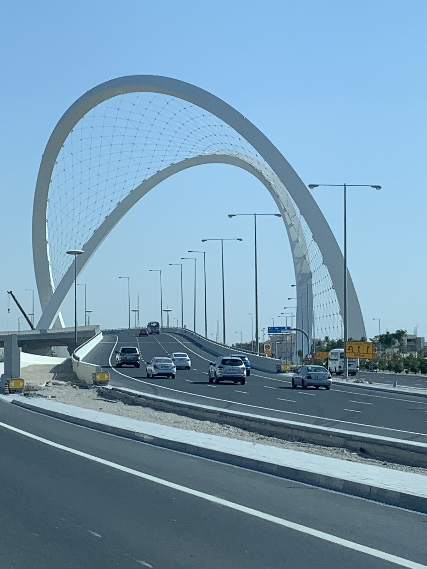 The Lusail Expressway, connecting Doha to the under-construction city of Lusail.