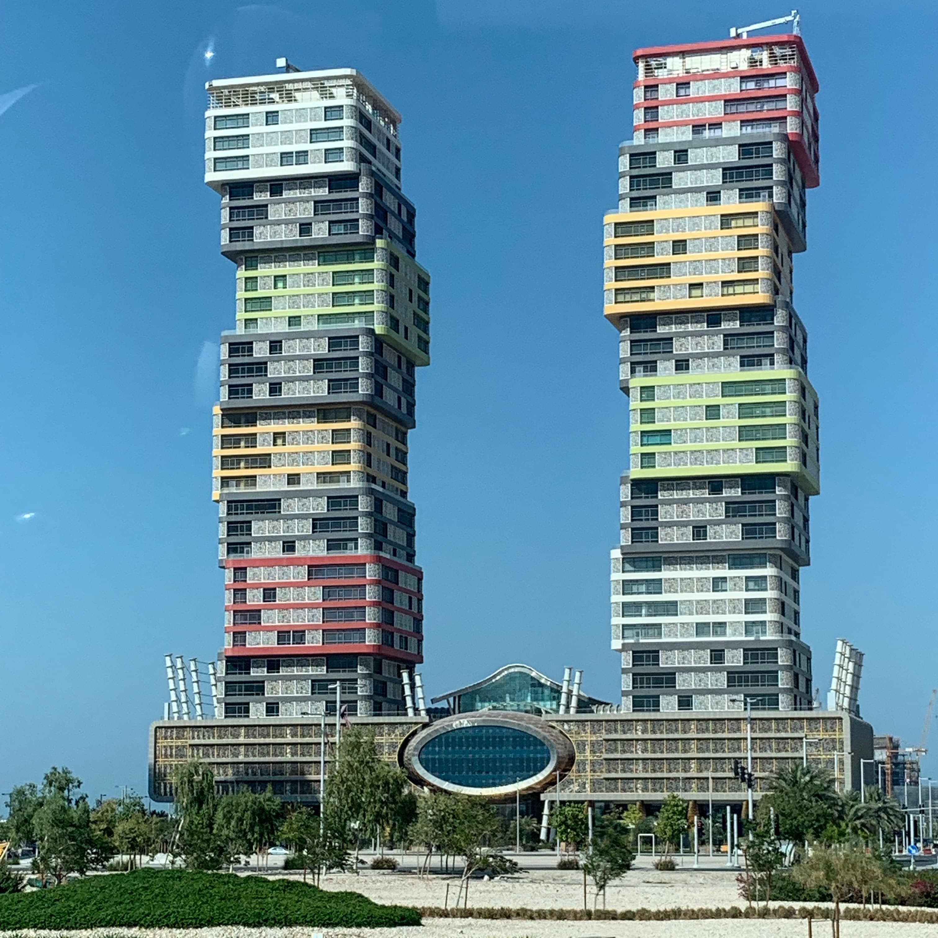 Marina Towers in Qatar's under-construction city of Lusail.