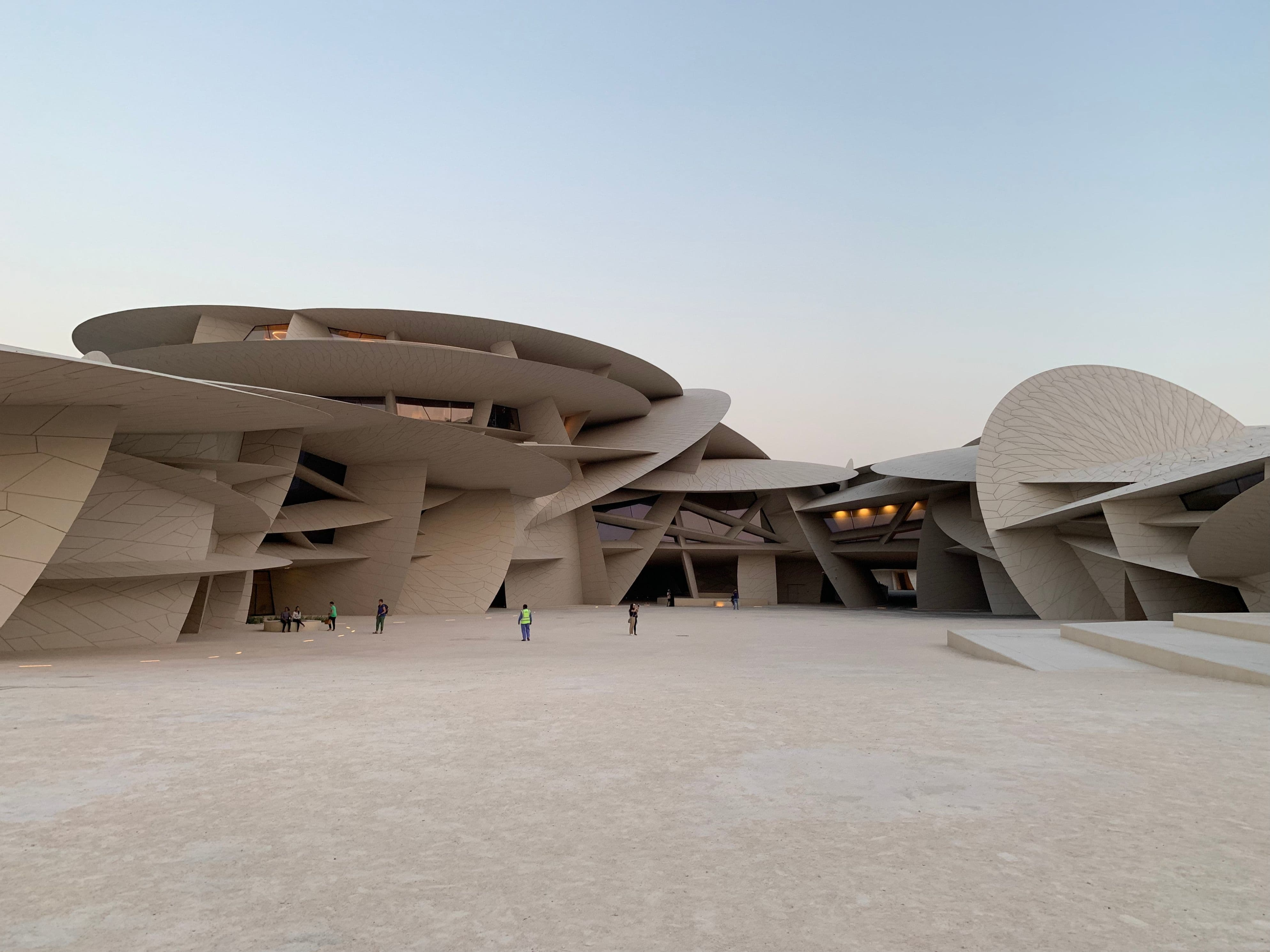 National Museum of Qatar, designed by French architect Jean Nouvel, takes its inspiration from the desert rose.