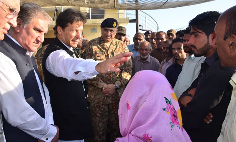 PM Imran, Army Chief Bajwa visit LoC, meet troops and martyrs' families: ISPR