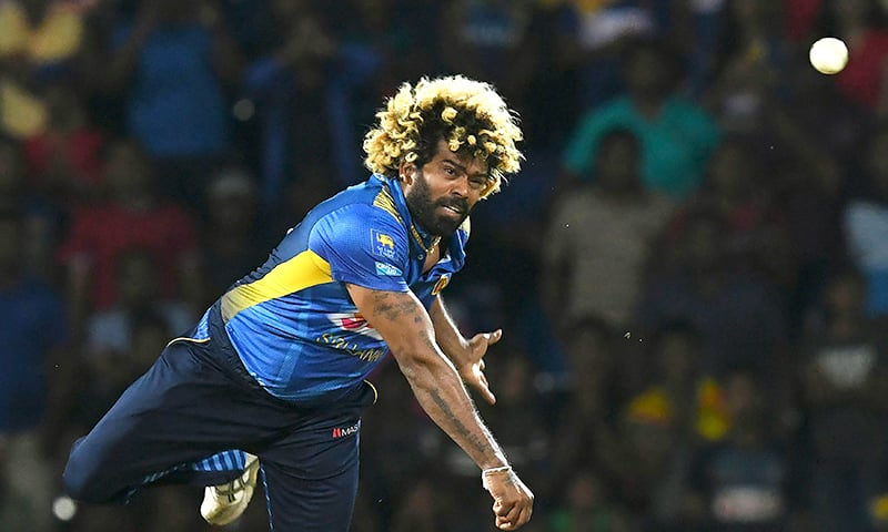 Sri Lanka's captain Lasith Malinga delivers the ball during the third and final international Twenty20 cricket match between Sri Lanka and New Zealand at the Pallekele International Cricket Stadium in Kandy on Friday. — AFP