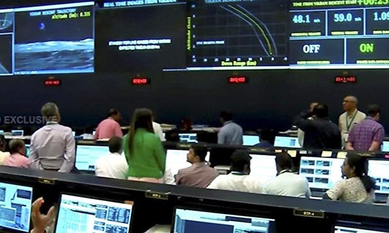 خلائی مشن کے آخری لمحات براہ راست نشر کیے گئے—اسکرین شاٹ