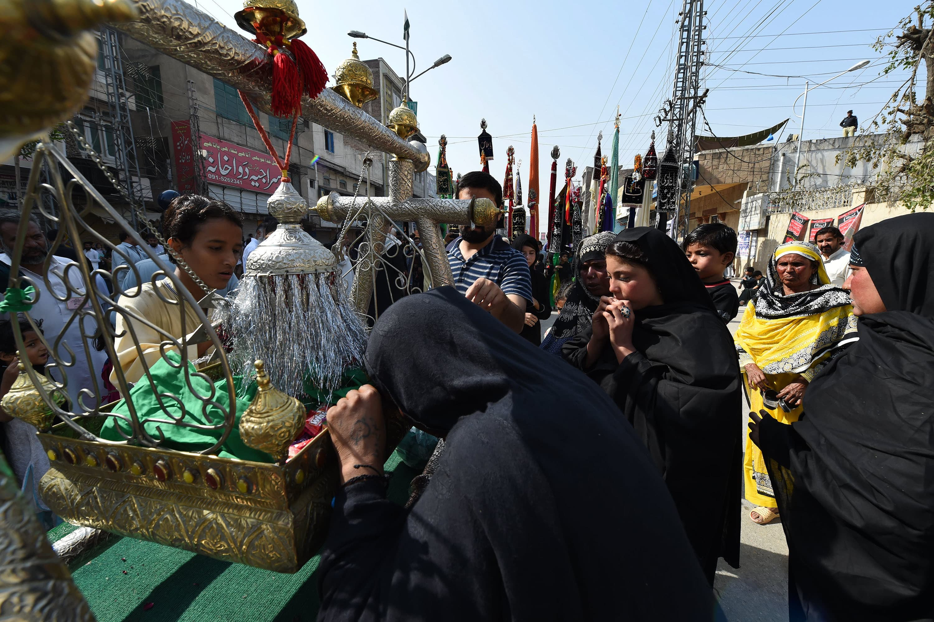 Women pay respects to the tazias in Peshawar | White Star