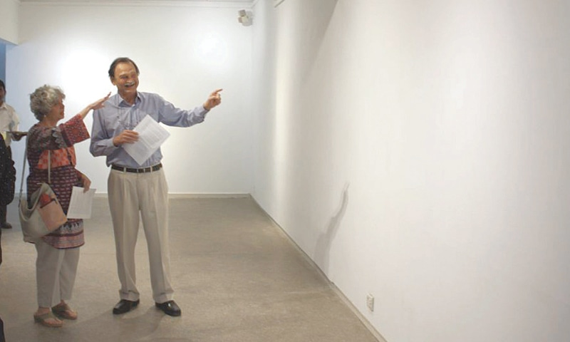 The blank gallery walls