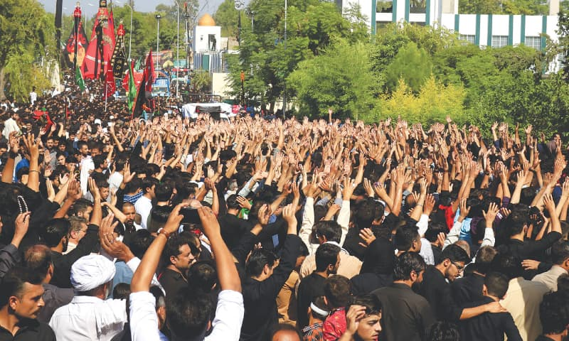 Mourners gather in Islamabad to pay homage to the martyrs of Karbala | White Star