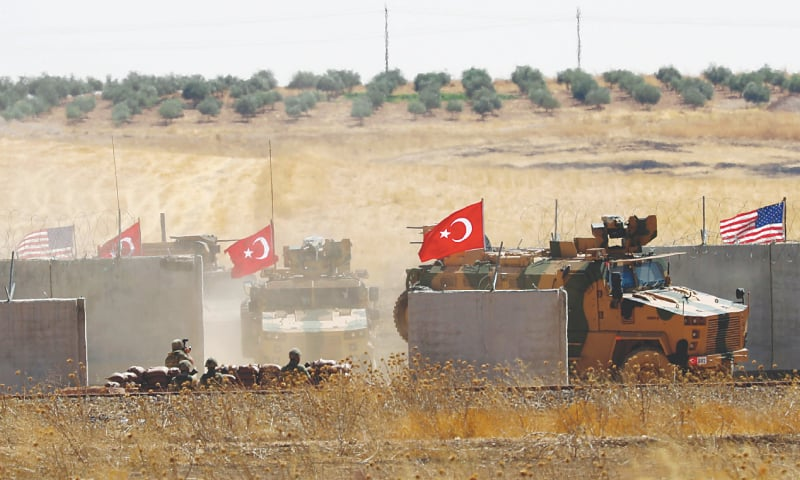 Turkish military enters Syria to begin joint United States safe zone patrol