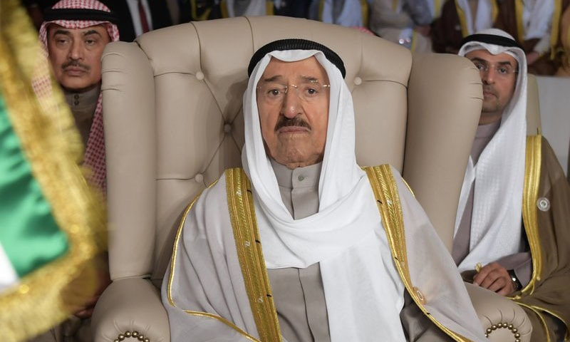 In this March 2019 file photo, Kuwait's ruling emir, Sheikh Sabah Al Ahmad Al Sabah, attends the opening of the 30th Arab Summit, in Tunis, Tunisia. — AP