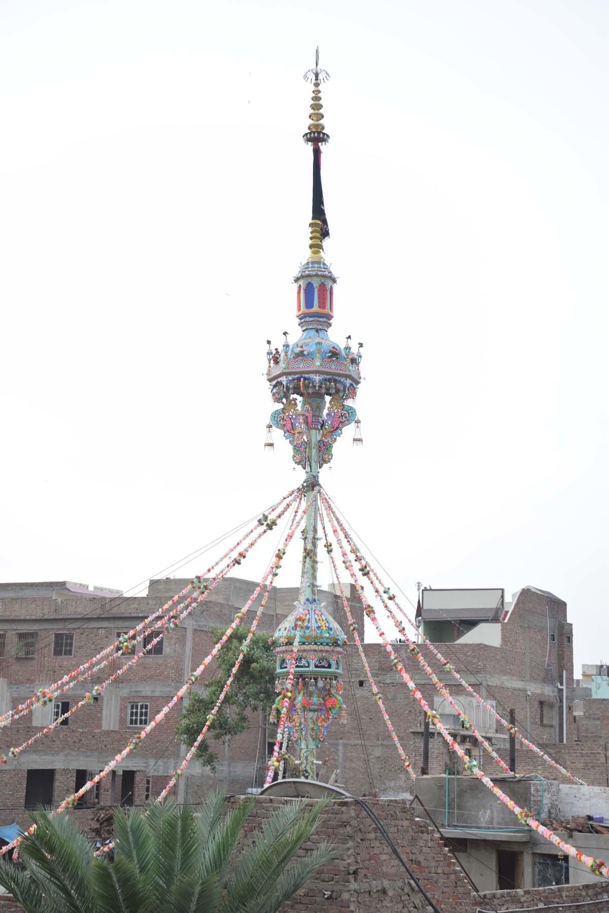Another view of the alam at Qadam Gah Maula Ali. — Umair Ali