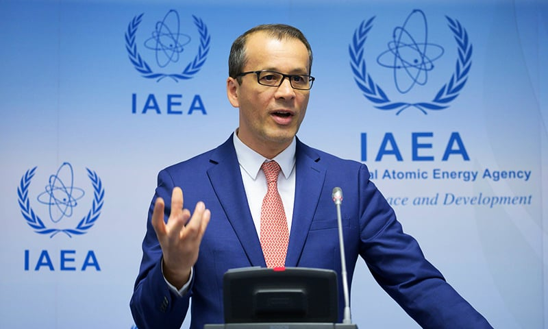 Cornel Feruta, acting Director General of the International Atomic Energy Agency (IAEA), speaks during  a press conference on September 9, 2019. — AFP