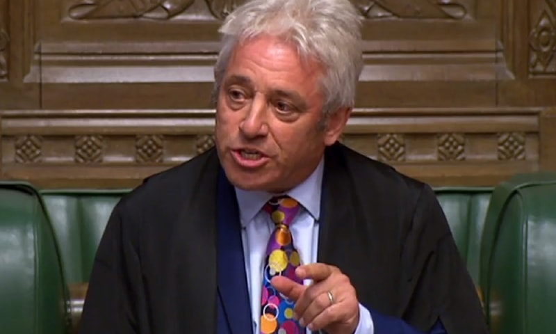UK parliament Speaker John Bercow announces he will quit