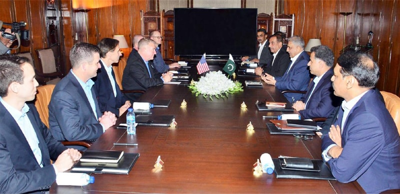 A US delegation, led by Gen Kenneth F. McKenzie Jr, Commander of US Centcom, meets Chief of the Army Staff Gen Qamar Javed Bajwa on Monday.—Online