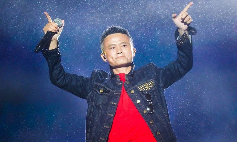 This file photo taken on October 11, 2017 shows Jack Ma, Alibaba Group founder and executive chairman, gesturing during the Music Festival of the Computing Conference 2017 in Hangzhou in China's eastern Zhejiang province. — AFP